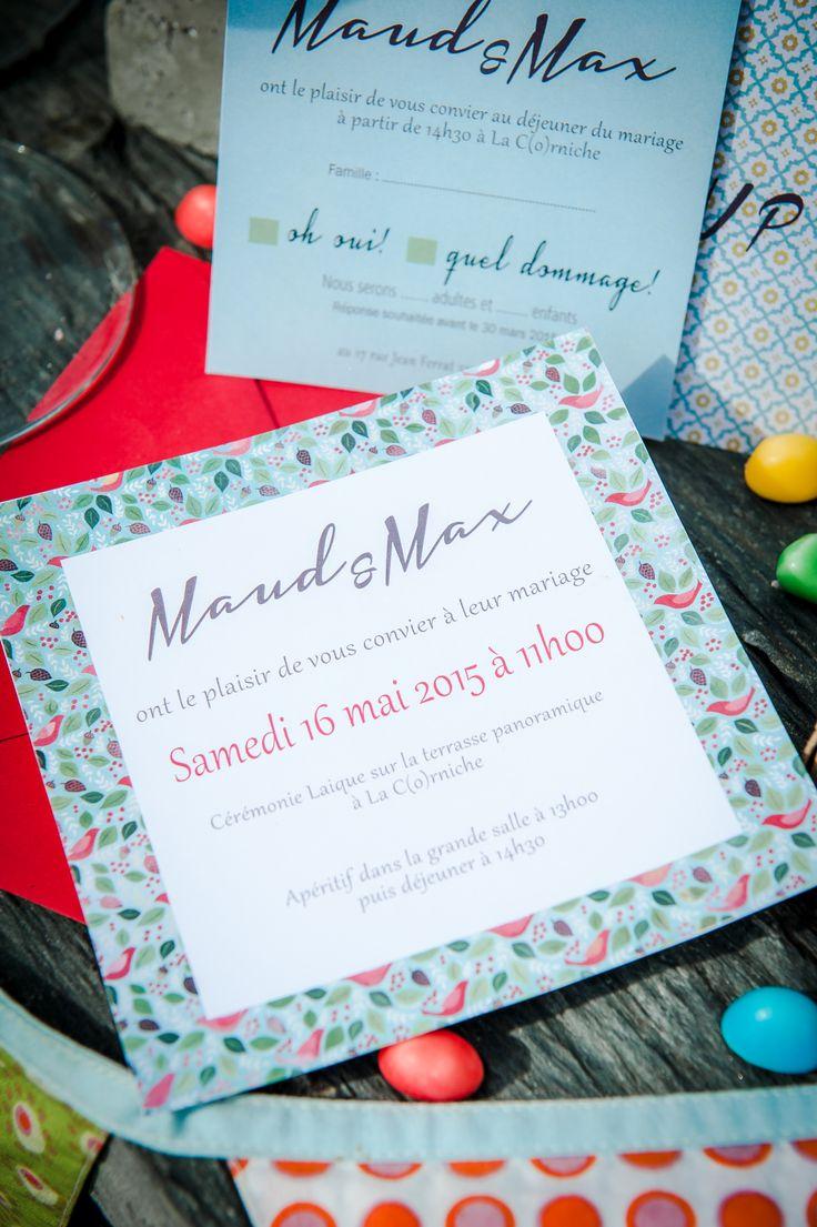 FAIRE PART PERSONNALISES aux couleurs et au thème de votre mariage www.mariage-bassin-arcachon.com et http://www.laboutiquedeleopold.wix.com/fairepart
