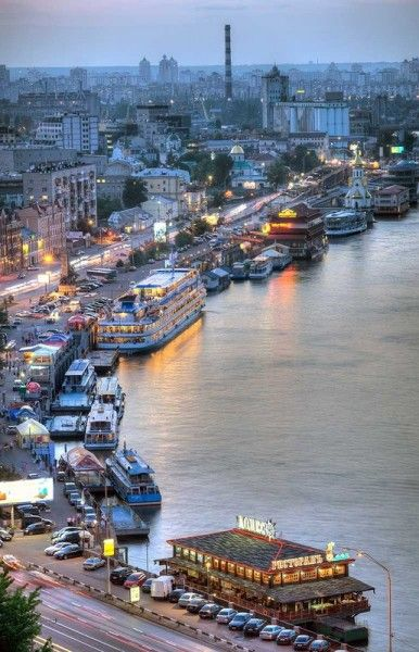 #Kiev, Dnipro river evening, Ukraine...The hours I walked along here...Sigh.  Miss you Kyiv.