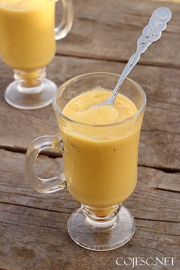 Koktajl mango - banan (prawie jak... kogel - mogel!) | Zdrowe Przepisy Pauliny Styś