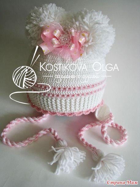Доброго времени суток, мои дорогие!  Возвращаюсь к вам с повтором одной элегантной шапочки: http://www.stranamam.ru/ (идея Леси Кириченко).  Вязала из Ализе Беби Вул в 2 ниточки, крючок 3.
