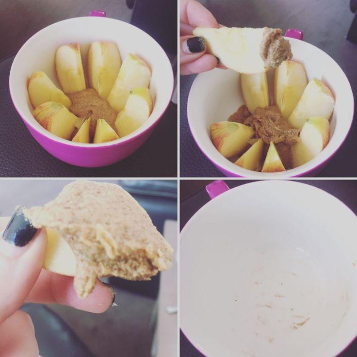 #buffbake nötsmör mandelsmör jordnötssmör äppel äpple skivor klyftor dipp dippa dip Peanut almond protein butter spread MyFood