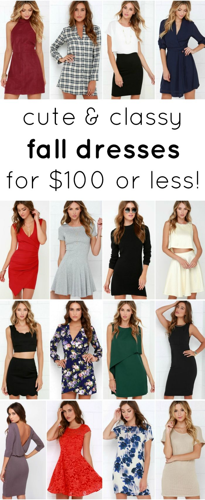 The cutest dresses for fall that won't break the bank!