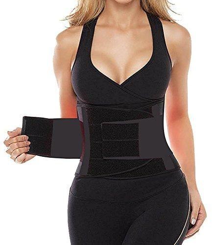 Camellias Women's Waist Trainer Belt - Waist Training Corset Waist Cincher Cinching Slimming Body Shaper- for an Hourglass Weight Loss Workout Gym Fitness Trimmer Slimmer Shaper, SZ8002-Black-M