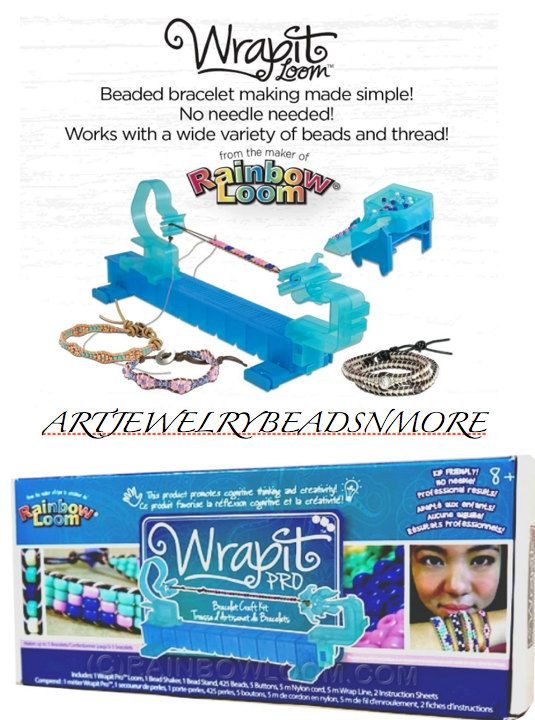 WRAPIT BRACELET LOOM, Wrapit Bracelet Kit, Wrap Bracelet jig, Wrap bracelet Loom, Bracelet jigs, +8 Gifts / for him /her, child safe Gifts by ArtJewelryBeadsNMore on Etsy