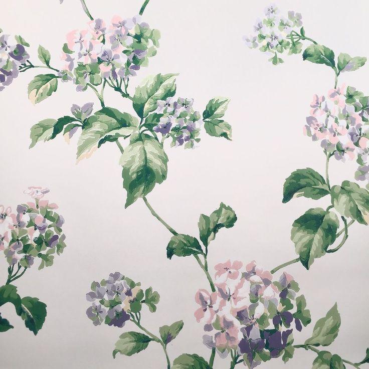 Carey Lind York Fine Wallpaper Purple Pink Lilac Tree Floral Looks Feels Painted #CareyLind