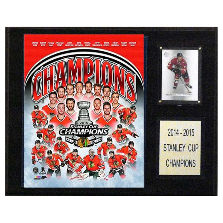 C and I Collectables NHL 15W x 12H in. Chicago Blackhawks 2014-2015 Stanley Cup Celebration Plaque - 1215SC15CE