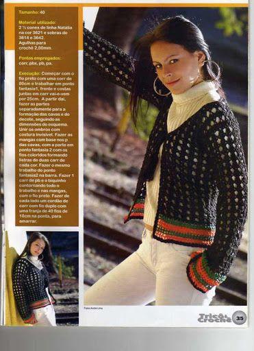Jakid - Roheline - Picasa Web AlbumsFor Handmade, Picasa Web, Ideas For, Crochet Blouses, Dark Crochet, Suéter Corto, Web Album