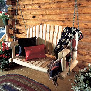 ♥Decor, Ideas, Porch Swings, Dreams, Logs Cabin Home, Gardens Swings, Outdoor, Front Porches, Porches Swings