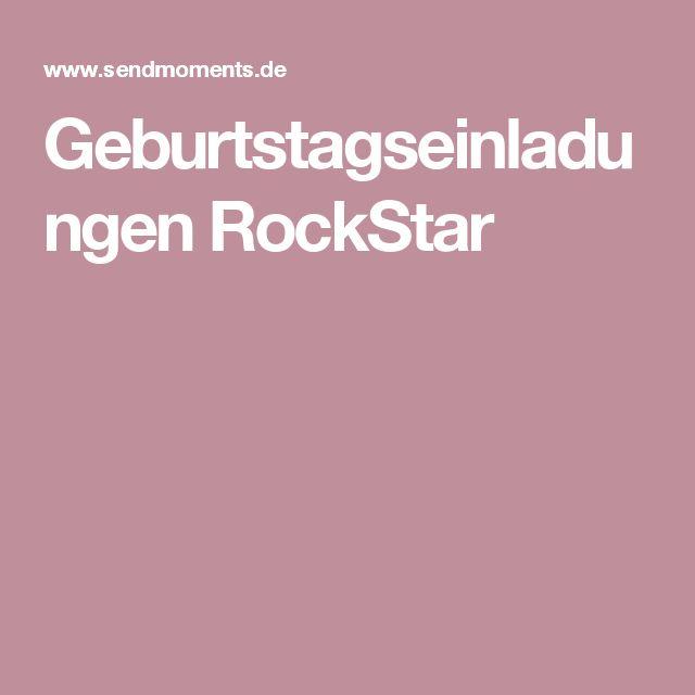 GeburtstagseinladungenRockStar