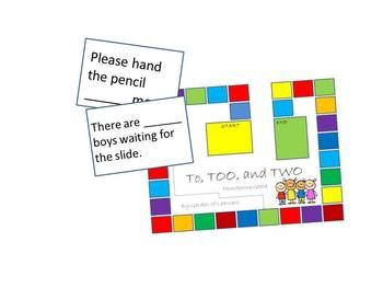 To, Too, Two Homophones Game by Garden of Thinkers   Teachers Pay Teachers