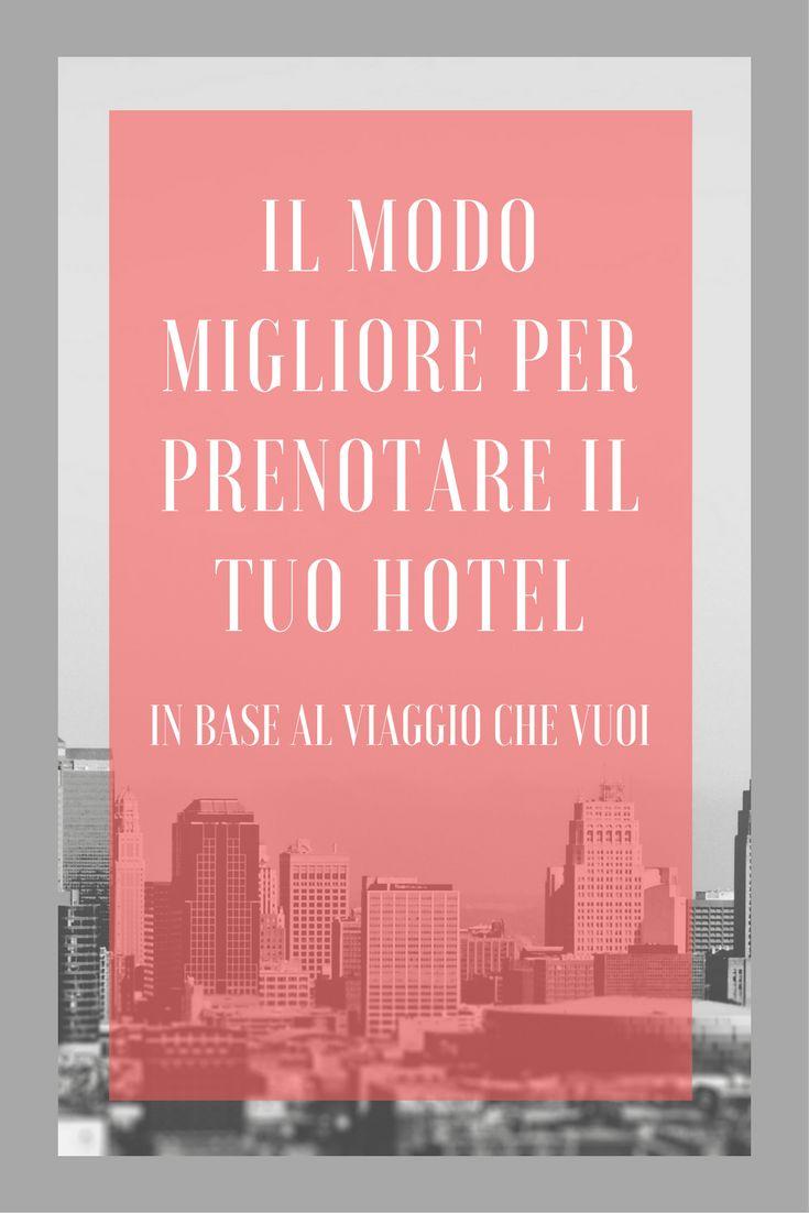 Come prenotare un hotel on line! Sai che in base al viaggio che stai programmando ci sono siti di prenotazioni che sono più o meno adatti ? Scopri tutto nell'articolo