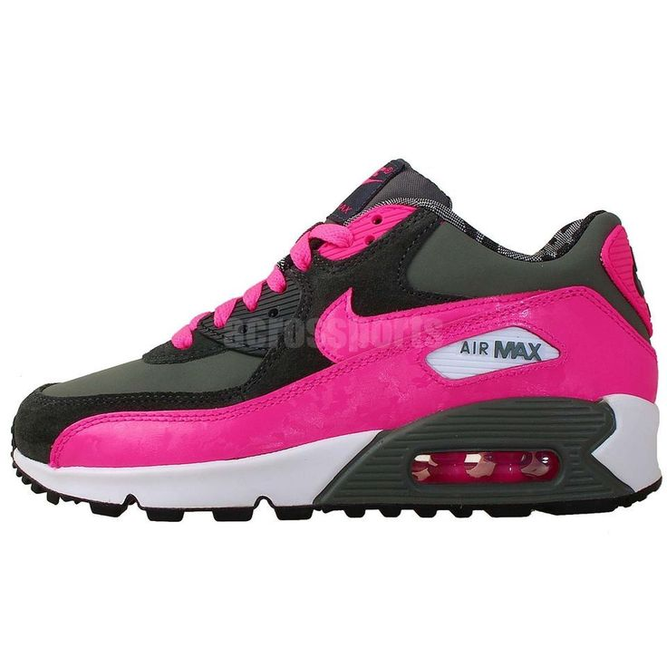 Nike Air Max 90 2007 GS Pink 2014 NSW Girls Youth Womens Running Shoes Camo  See our Nike AirMax 90 women's collections: http://www.ebay.com.au/cln/acrossports/Nike-Wmns-Womens-Air-Max-90/173823384016