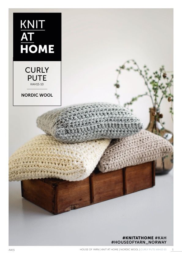 15-10 CURLY PUTE | free crocheting pattern | crocheted pillow | chunky crochet | crocheted interior, crochet pattern