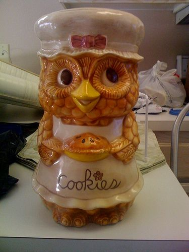 Owl Cookie Jar by highvoltageilene, via Flickr