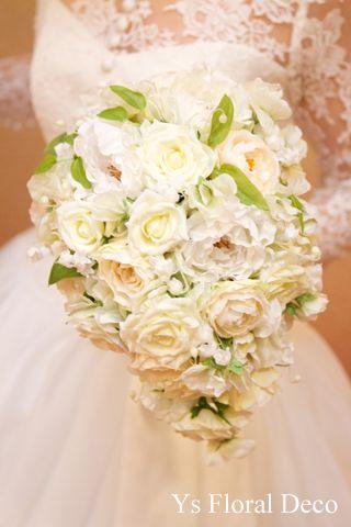スズランをいれたティアドロップブーケ アーティフィシャルフラワー ys floral deco @東京大神宮