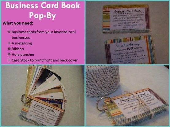 Business card book Pop-By read more at: http://maryspopbyideas.blogspot.com/