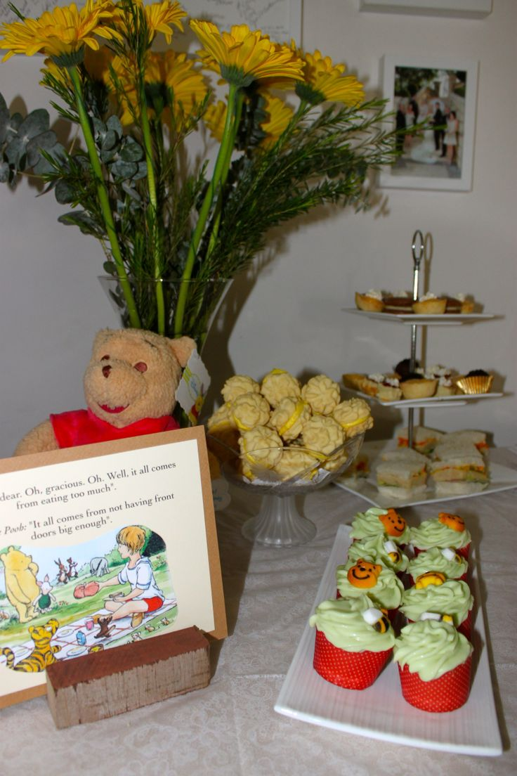 classic winnie the pooh baby shower high tea ideas baby shower