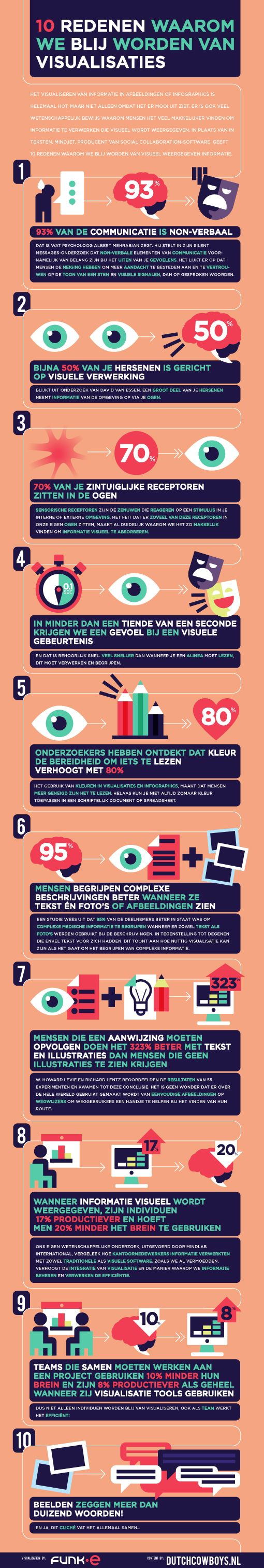 We have made a sweet #infographic in collaboration with the #DutchCowboys! Check out here why visuals are so awesome!