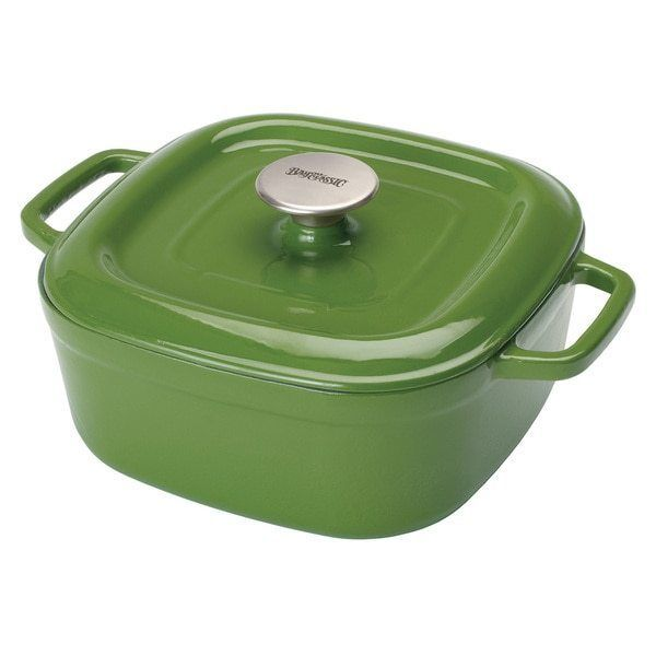 4 Quart Green Dutch Oven Cast Iron Casserole Dish Free Shipping #BayouClassic