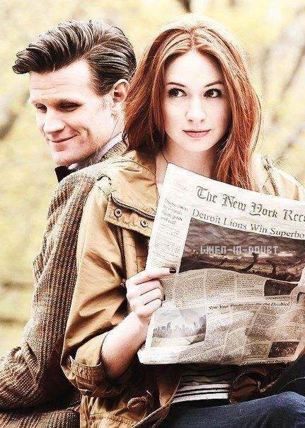 """Season 7 filming in New York Central Park. I'm extremely entertained but the newspaper caption. """"Detroit lions win the Super Bowl."""