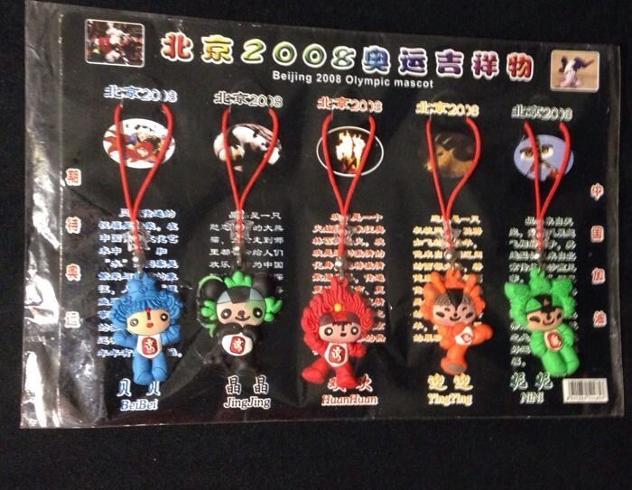 2008 Beijing Olympic Mascot 5 Charms New In Package  | eBay