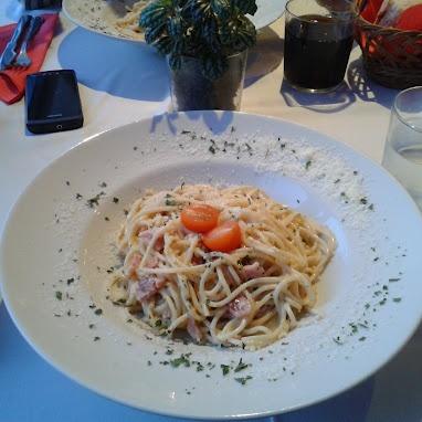 Pasta Carbonara en La Toscana (Bastiagueiro)