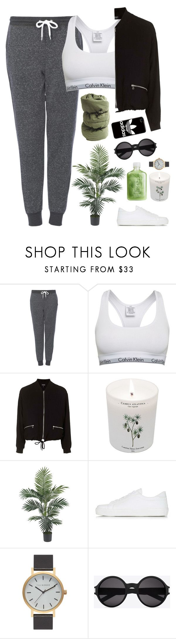 """Stay Up//Dyme-A-Duzin Ft.Kehlani"" by thelonelyheartsclub ❤ liked on Polyvore featuring Topshop, Calvin Klein, Carriere, The Horse, Yves Saint Laurent and adidas"