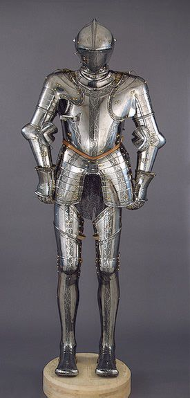 The State Hermitage Museum: Digital Collection -- Powered by IBMArmour  Grosschedel, Wolfgang.  Germany. Nuremberg. Circa 1550 Steel, leather and copper; forged, etched and engraved.  Source of Entry:   Tsarskoe Selo Arsenal. 1885