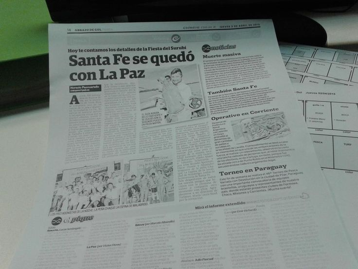 #FiestaDelSurubí 2015  #LaPazER en Diario Crónica Pesca