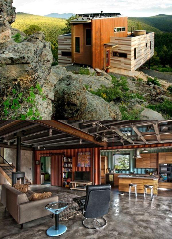 Shipping Container House. Super awesome. Really like the interior.