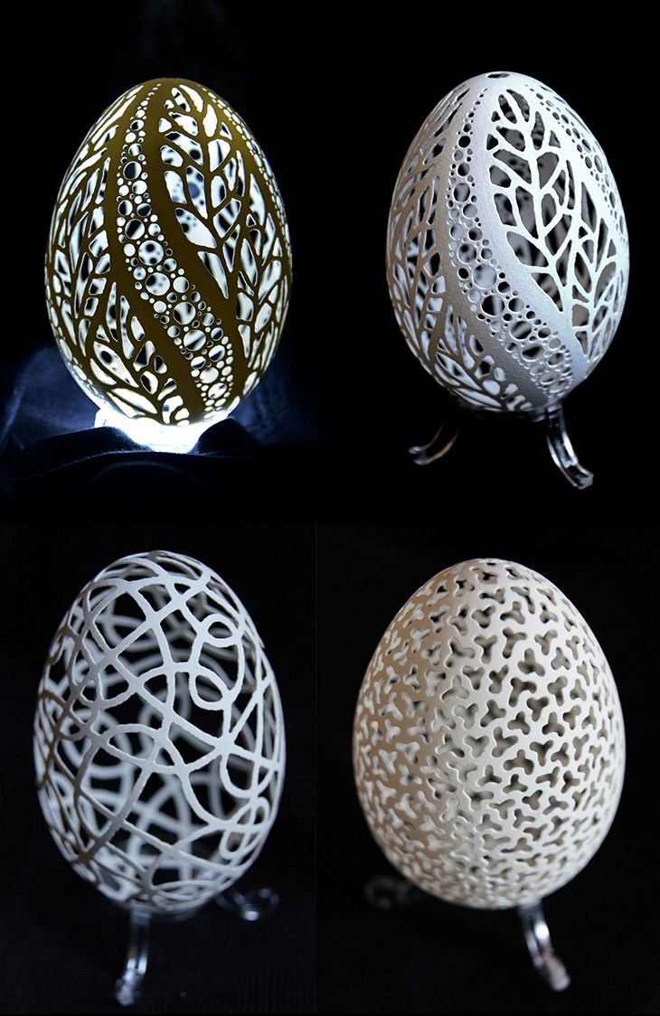 Very Skillful Stunning Egg Arts by Piotr Bockenheim