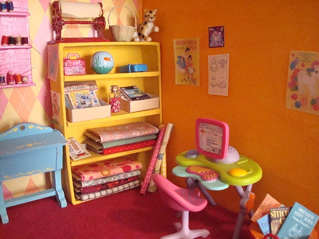 Miniature sewing/craft room for a dollhouse!
