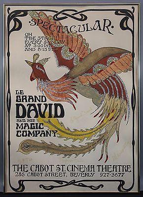 Authentic-Autographed-Le-Grand-David-Magician-Magic-Show-Poster-Print-NR