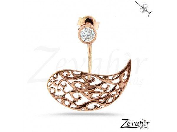 Ajör İşlemeli Kuş Modeli Pirsing Küpe (TEK) 925 Ayar Gümüş