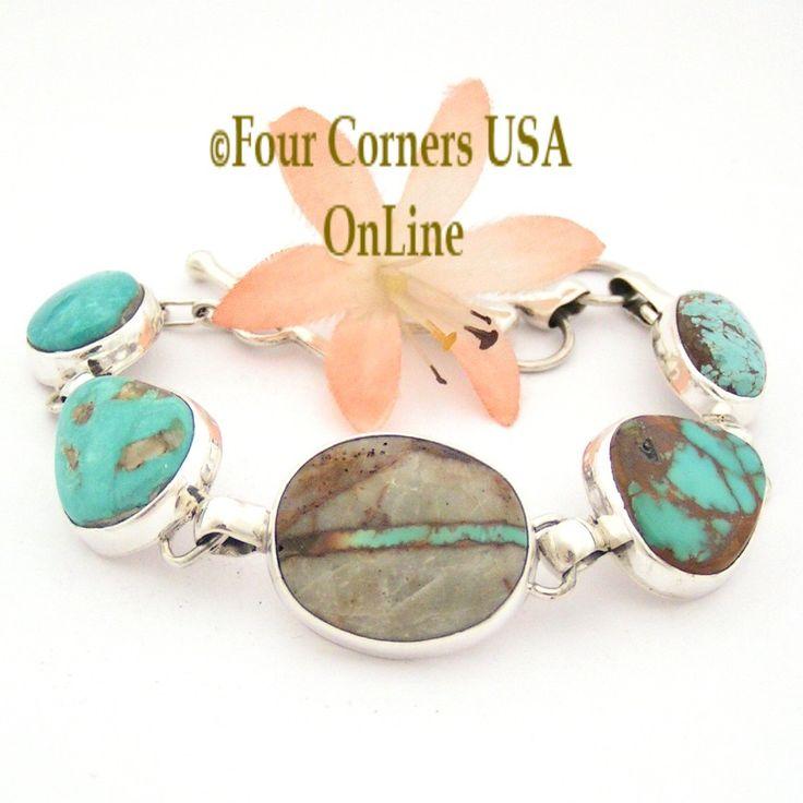 Four Corners USA Online - Multi Turquoise Mine Adjustable Link Bracelet Navajo Silversmith Tony Garcia NALB-1416, $485.00 (http://stores.fourcornersusaonline.com/multi-turquoise-mine-adjustable-link-bracelet-navajo-silversmith-tony-garcia-nalb-1416/)