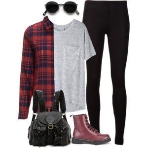 Cherry Dr Martens and flannel
