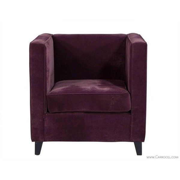 Cube Lounge Chair In Plush Purple Velvet Liked On Polyvore