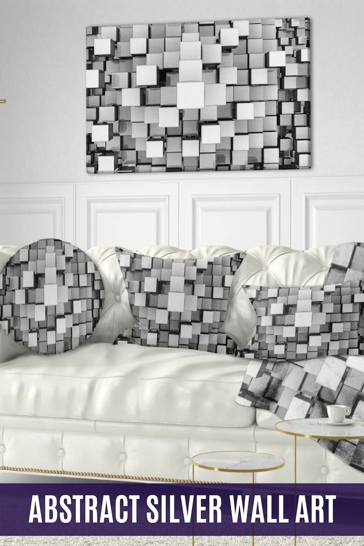 Contemporary Chic And Exquisite Silver Wall Art Home Wall Art Decor Silver Wall Decor Silver Wall Art Silver Walls #silver #wall #decor #for #living #room