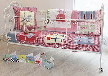 childrens cot quilt red gingham by the happy headbangers club | notonthehighstreet.com
