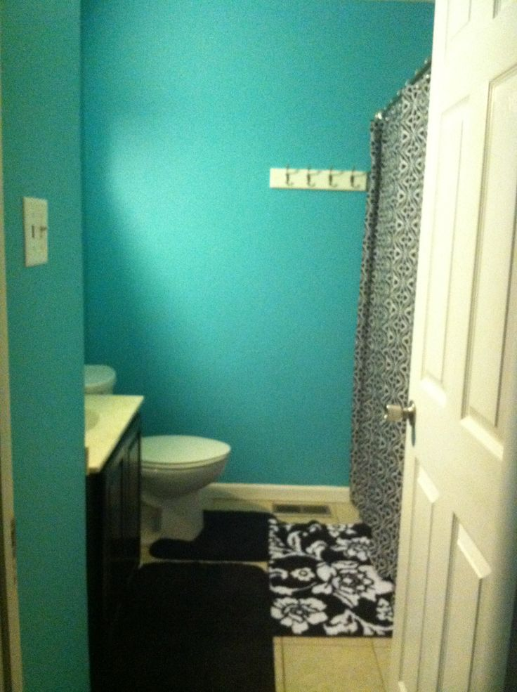 Teal And Black Bathroom Bathrooms Bathroom Bathroom