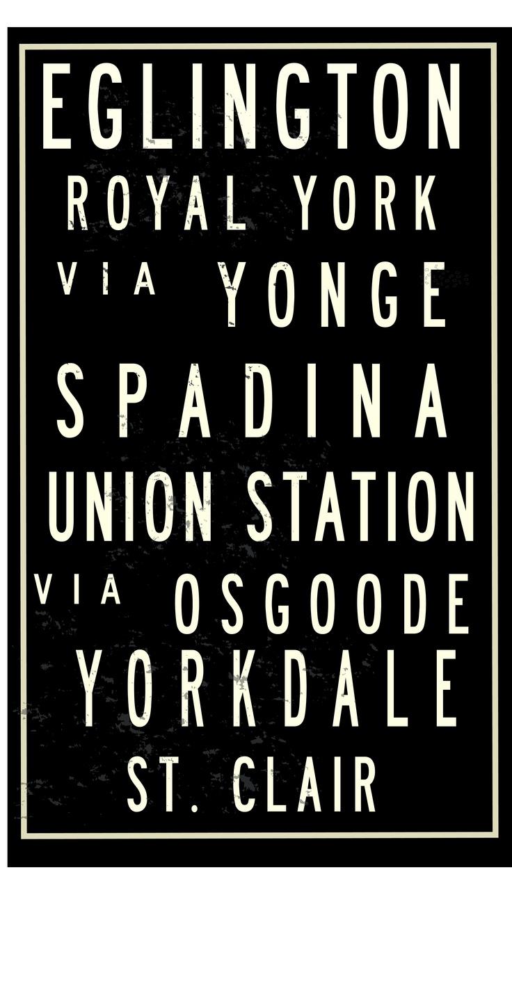 Toronto Subway Sign