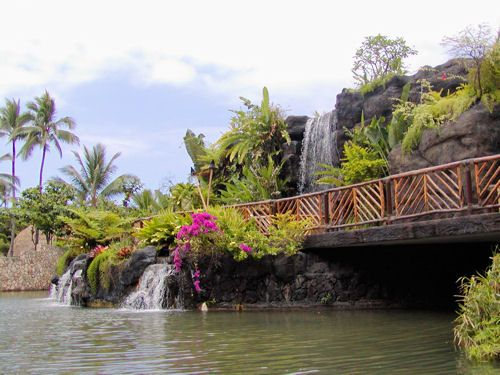 Polynesian Cultural Center Villages Photos: Waterfalls and Walking Path Between Villages