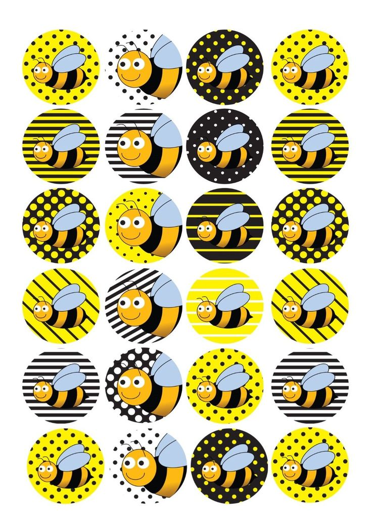 24 Edible cake toppers decorations Bumblebee Bee insect new baby bumble