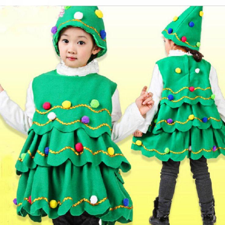 Goedkope Kinderen Kerst groene boom dans kleding meisje jurk + cap Halloween Party Kostuum 2 STKS kid mode cartoon stijl dot kleding, koop Kwaliteit jurken rechtstreeks van Leveranciers van China:                4t:aanbevolen hoogte 110cmkind6t:aanbevolen hoogte 120cm&