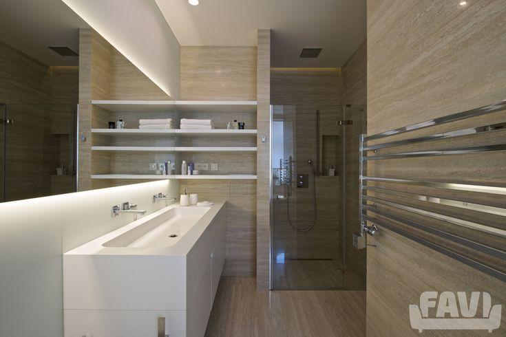 Moderní koupelny inspirace - Byt, Praha 7 | Favi.cz