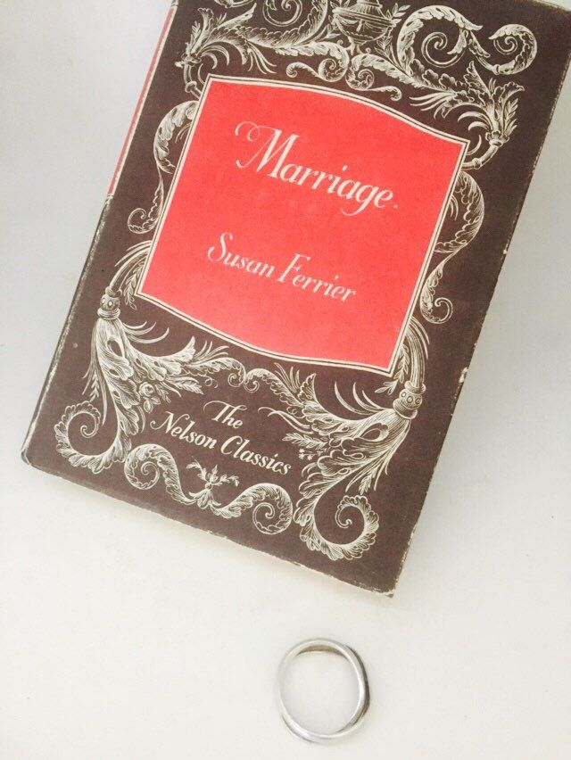 Marriage by Susan Ferrier. 1950s edition by MrsJoyful on Etsy https://www.etsy.com/listing/243908591/marriage-by-susan-ferrier-1950s-edition
