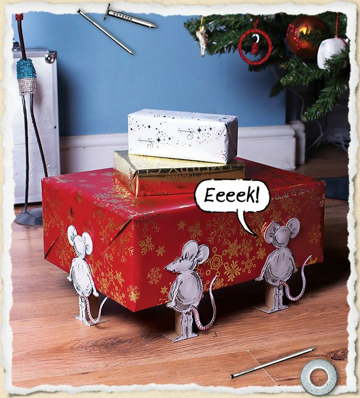 Here's a fun way to set the scene on Christmas morning – imagine the kids creeping into the living room and seeing their presents being carted off by some mischievous mice! They're also great for birthdays, or any other present giving occasion, so bookmark this one for later if you don't have time over the festive season.