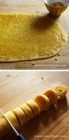"""Arancini di carnevale marchigiani Ingredienti per 8 persone: 650 g di farina """"0"""" 3 uova bio fuori frigo 50 g di burro oppure 40 g di olio extravergine di oliva delicato 20 12 g di lievito di birra fresco oppure 7 3,5 g di lievito di birra secco 50 g di latte fresco caldo + 100 latte di latte fresco freddo + latte fresco qb 230 g di zucchero (anche di canna va bene) 3 arance non trattate 2 limoni non trattati olio extravergine di oliva delicato per friggere Carta paglia"""