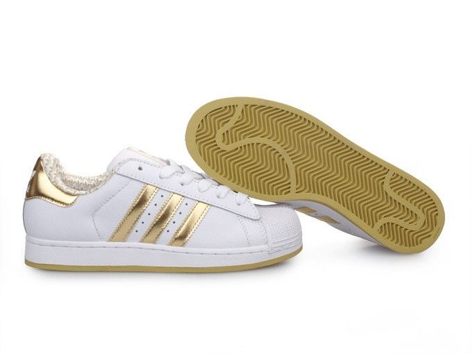 gold white | Home » Adidas Originals Superstar II Mens Shoes white/gold