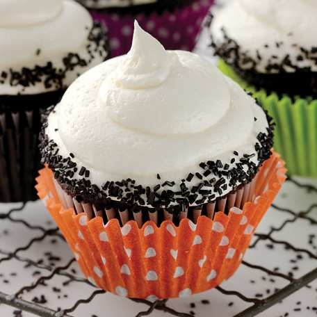 Rich, fluffy vanilla buttercream frosting the easy way.